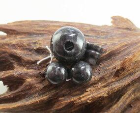 【10%割引クーポン配布中】数珠パーツ道具セット黒翡翠《ブラックジェイド》16ミリ