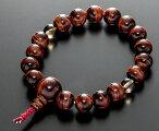 数珠ブレスレット房付き腕輪念珠赤虎眼石10mm共仕立てゴム紐房4本組手首数珠桐箱入