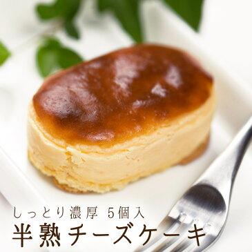 半熟チーズケーキ (5個入り) [手作り/洋菓子/スイーツ/チーズケーキ/ギフト/贈り物/おやつ/手土産] 冷凍配送