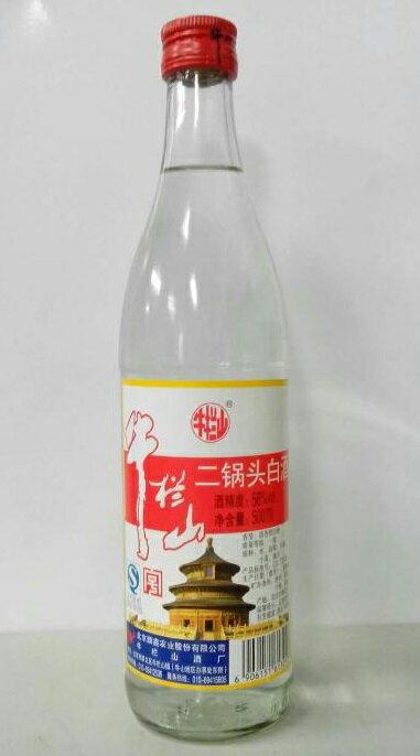 牛欄山 二鍋頭白酒(アルコードシュ)瓶 500ml X 12本(1ケース売り)56度、中国名酒・白酒 ♪