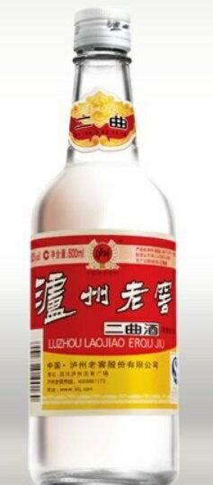 瀘州老窖(ろしゅうろうこう) 二曲 500ML 52度、中国白酒♪