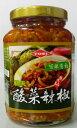 横浜中華街 TOEI 酸菜辣椒 (唐辛子入り高菜漬け) 365g