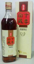 横浜中華街 TTL 台湾 十年窖蔵(10年)精醸陳年紹興酒(玉泉)  17.5度、600ml X 12本(1ケース売り)、台湾紹興酒・台湾の純粋天然醸造酒♪