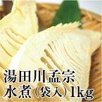 湯田川特産 今年の春に採れた たけのこ(湯田川孟宗)水煮 袋入 1kg クール便