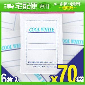 「貼付型冷却材」テイコクファルマケア クールホワイト(COOL WHITE) 14x10cm 6枚入り x70袋(合計420...