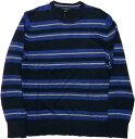 バナナリパブリック 長袖 ボーダー Tシャツ シルク リネン ブルー BANANA REPUBLIC T SHIRTS 080