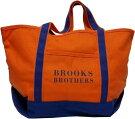 ブルックスブラザーズコットンキャンバス製ツートーントートバッグオレンジ/ブルーBrooksBrothersTOTEBAG065
