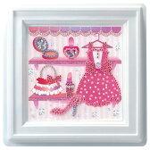 ビーズキット 実用小物・インテリアキット 壁にかけるもの ミニプッシュ おしゃれにドレスアップ G-414 |ビーズ手芸|TOHO|トーホー|子供向け|簡単|かわいい|可愛い|ドレス|ピンク|女の子|トーカイ|通販|
