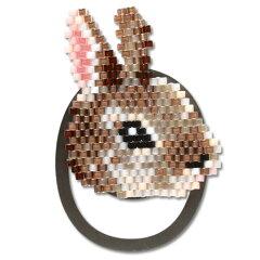 アニマルクリップキット ウサギ BFK-403|ビーズ|キット|ステッチキット|シェイプド|クリッ...