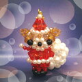 ビーズビーズキットくまのサンタクロースBK-64【メール便可】|ビーズ|クリスマス|キット|ホビックス|サンタ|トーカイ|