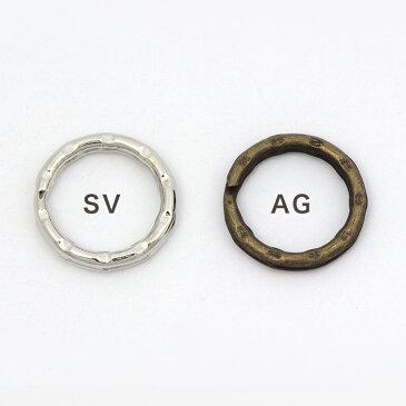 アクセサリー金具 二重リング 20mm SV AG 6ヶ 【メール便可】|ビーズ|パーツ|二重カン|20mm|金具 トーカイ