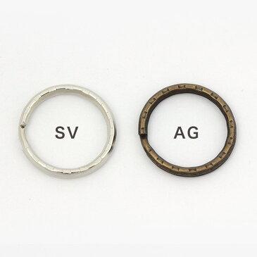 アクセサリー金具 二重リング 25mm SV AG 6ヶ 【メール便可】|ビーズ|パーツ|二重カン|25mm|金具 トーカイ