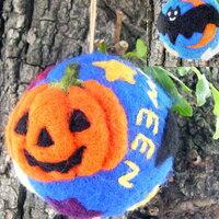 ハロウィン|羊毛フェルト キット|ハロウィンボール|フェルト羊毛 キット|ハロウィーン|グ...
