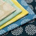 生地 北欧風 北欧調フラワーサークル ダブルガーゼ 148-1755 【メール便可】 |1m単位の切売り|花柄|布地|ソーイング|裁縫|手芸|手作り|手づくり|ハンドメイド|生地|シュゲール|