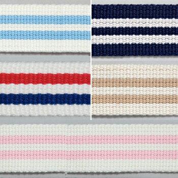 生地 入園・入学副資材 Cotton Memory ストライプテープ 25mm巾 1.5m|かばん|カバン|鞄|持ち手|かばんテープ|カバンテープ|鞄テープ|持ち手テープ|入園|入学|おしゃれ| トーカイ