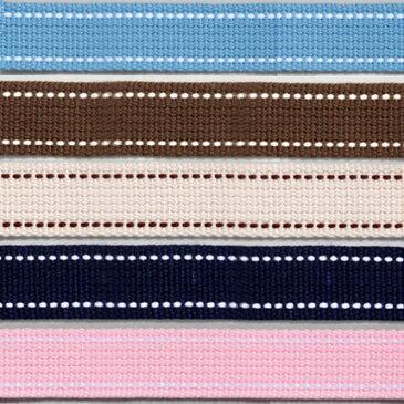 生地 テープ Cotton Memory ステッチテープ 25mm巾 1.4m|かばん|カバン|鞄|持ち手|かばんテープ|カバンテープ|鞄テープ|持ち手テープ|2.5cm|ステッチ| トーカイ