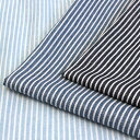 生地 ガーゼ デニム調プリント ストライプ ダブルガーゼ AP25501-2 【メール便可】|1m単位の切売り|綿|コットン|デニム柄|おしゃれ|ベビー|スタイ|マスク|寝具|