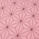 アムンゼンプリント 麻の葉1m単位 切売り 切り売り 生地 布 布地 麻の葉模様 麻の葉 あさのは 鬼滅の刃風 ねずこ風 禰豆子風 ピンク ピンク地 桃 着物 着物地 薄手 薄地 服地 桃色