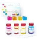 ねんど 粘土用具 型取り材・注型材料 NRクリアカラー 4色セット|クリスタルレジン|エポキシ樹脂|ポリウレタン樹脂|着色料|色付け剤|カラーリング剤|レジン|レジン|カラー