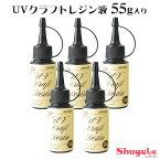 ねんど粘土用具UV樹脂UVクラフトレジン液55g入り5本セット