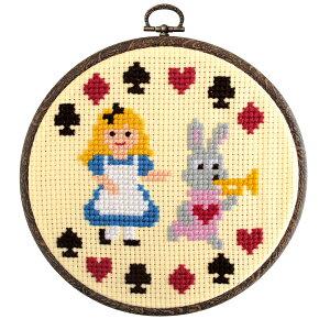 刺繍 刺しゅうキット オリムパス おしゃれフープ Fairy Tales ものがたりシリーズ 不思議の国のアリス