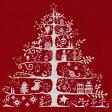 刺繍 DMC輸入キット クリスマスキット Christmas Tree 生地レッド  JPBK557R 刺繍キット 【刺繍・刺しゅう】刺繍キット 【メール便可】Christmas Tree|クロスステッチ キット|刺しゅう|クリスマス 手作りキット|海外|キット|刺繍