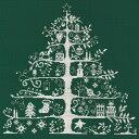 刺繍 刺しゅう輸入キット DMC クリスマスキット Christmas Tree 生地グリーン…