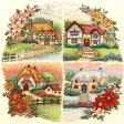 刺繍 刺しゅう輸入キット Anchor Seasonal Cottages 【メール便可】