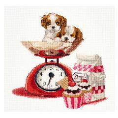 刺繍 輸入キット Thea GOUVERNEUR Cup Cake Puppy[手芸材料の通信販売 シュゲール]