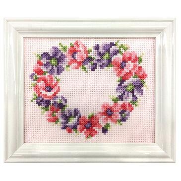 刺繍 キット COSMO(ルシアン) 四季折々の花だより 2月 アネモネ No.7622【メール便可】クロスステッチ フラワーリース