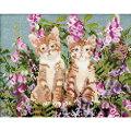 刺繍キットCOSMO(ルシアン)Cat&Flowerツインズ【メール便可】