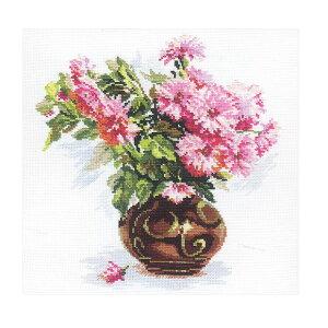 刺繍 輸入キット ALISA 2-09 Blooming garden. Chrysanthemums 庭に咲いた小菊【メール便可】