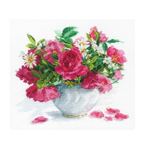 刺繍 輸入キット ALISA(アリサ) Flowers and birds Blooming garden. Roses and Daisies 【メール便可】