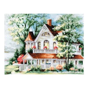 刺繍 ルーカス THE LAKE HOUSE レイクハウス BU4000|光のコテージ アンカー刺しゅう糸使用 キット