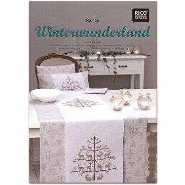 刺繍 刺しゅう図案集 RICO 図案集 WinterWonderland 128【メール便可】
