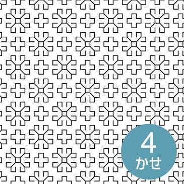 \新春SALE/ 刺し子布 印刷済み布パック 一目刺しの花ふきん マーガレット(白) 晒木綿 刺し子布 図案印刷済み