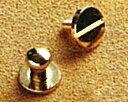 10周年記念10%クーポン!レザークラフト ギボシ (6mm) ゴールド 2個入 1502-02 (メール便可) ステイホーム おうち時間 手芸男子 趣味 ハロウィン