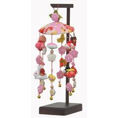 【雛人形 ひな人形 吊るし飾り】脇飾りやプレゼントに最適なかわいい「さげもん」組立式台付...