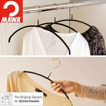 おまとめ買いシャツを洗濯&収納兼用で掛けられる*セットスリムハンガー20本入