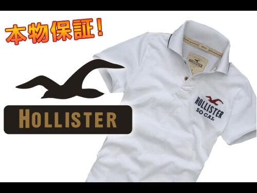 ホリスター メンズ 半袖ポロシャツ WARNER SPRINGS ホワイト S M L XL あす楽 10800円以上 送料無...