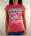 Local Celebrityローカルセレブリティ レディースTシャツ Peace & Unity T-shirt ピンク