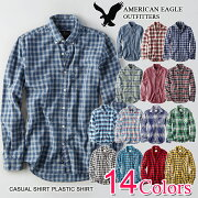 アメリカン イーグル カジュアル プラッドシャツ ラッピング
