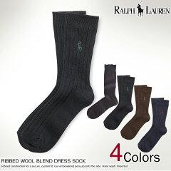 ポロラルフローレンメンズソックス靴下RIBBEDWOOLBLENDDRESSSOCK4色(13335736)(L,XL)(お買い物マラソン,最大ポイント10倍!,即納,あす楽,10800円以上送料無料,バレンタインギフトに)