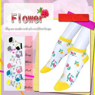 ☆ see-through x floral ☆ sneaker socks ♪ ♪