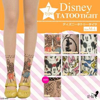 Disney tights tattoo stocking Disney crew socks ★ tattoo tights [NodeType] Mickey Minnie silhouette Daisy Donald Disney tattoo stockings