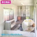 【既製サイズ】ビニールカーテン 防寒 防炎 帯電 耐候[0.35mm厚]【幅94cm×丈293cm】