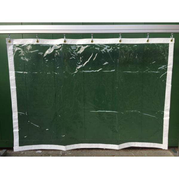 静電透明ビニールカーテンt0.3㎜●幅444cm〜495cm×丈450cm〜500cm:シート専科