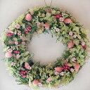 やさしいピンクの母の日プリザーブドフラワーギフト小さなお庭のような フラワーガーデンリース...