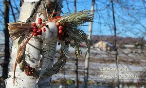【送料無料】お正月注連縄ミニリース*ほのか/ナチュラルインテリア自然素材手作りしめ飾りしめなわドライフラワーお正月飾りしめ縄
