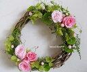 【送料無料】アリュール*2色のピンクのバラがかわいい/プリザーブドフラワーリース/お祝い・お誕生日・お礼・ホワイトデー・プレゼント・母の日・結婚祝い・新築祝い